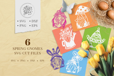 Spring Gnomes SVG Cut-Files