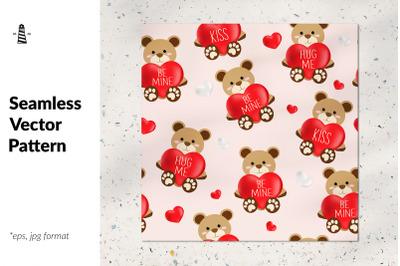 Teddy bear seamless pattern