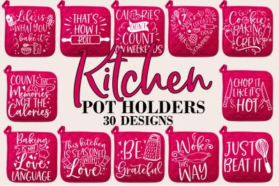Funny Kitchen Pot Holder SVG Bundle