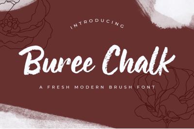Buree Chalk  Fresh Modern Script