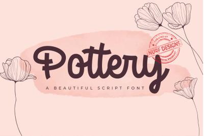 Pottery  A Beatiful Script Font