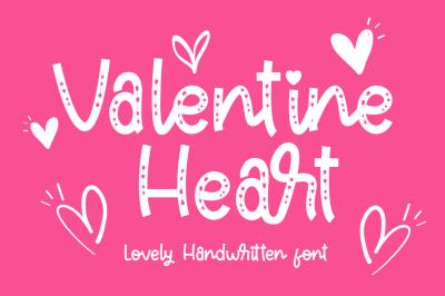 Valentine Heart a Lovely Handwritten Font