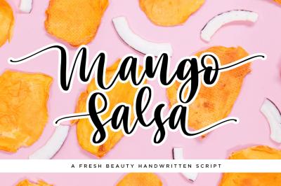 Mango Salsa with Bouncy Handwritten Script Font Style