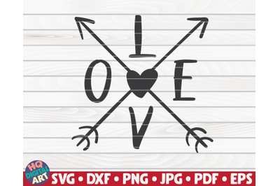 Love with arrows   Valentine's Day vector
