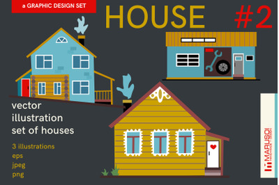 HOUSE #2 vector illustrations