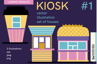 KIOSK #1 vector illustrations