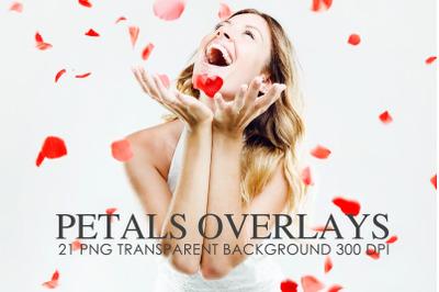 Petals Overlays,  Petals red  overlays