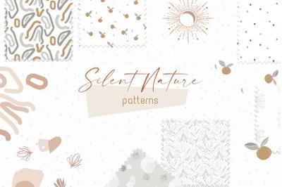 Silent Nature - seamless patterns