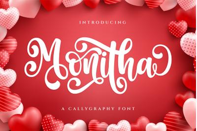 Monitha - Script Font