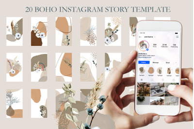 Boho instagram templates