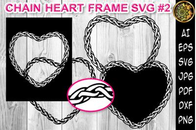 Chain Heart Border Frame SVG Cut Files 2