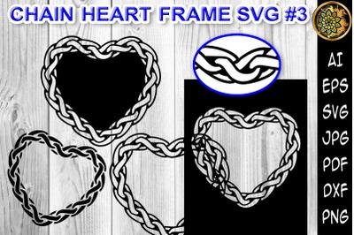 Chain Heart Border Frame SVG Cut Files 3