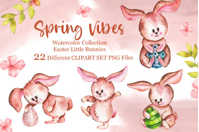 Watercolor Easter llustrations Collection