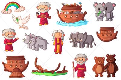 Noah's Ark Bible Story Clip Art