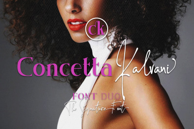 Concetta Kalvani - Signature & Serif