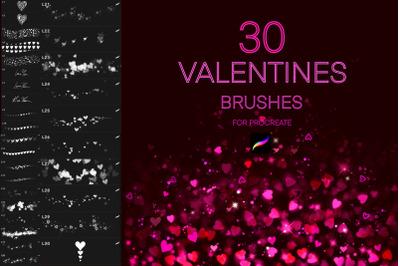 30 Valentine's Day Procreate brushes