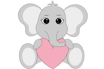 Elephant SVG ,  elephant love svg, Cute Elephant SVG Cut Files, Elepha