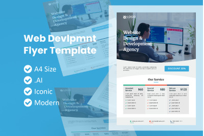 Web Development Service Flyer