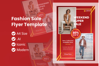 Chinese Fashion Sale Flyer Template