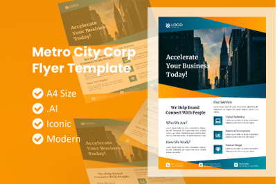 Corporate Metro City Flyer Template