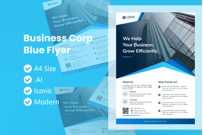 Corporate Blue Flyer Template