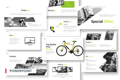Sigil Bicycle Powerpoint Template