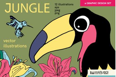 JUNGLE vector illustrations