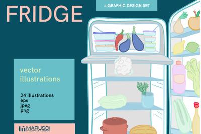 FRIDGE food illustrations