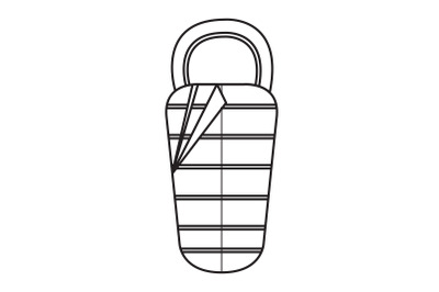 Camping Sleeping Bag Outline Icon