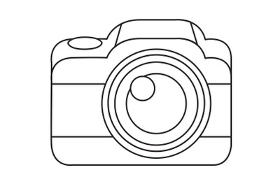 Camping Camera Outline Icon