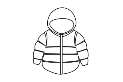Camping Jacket Outline Icon