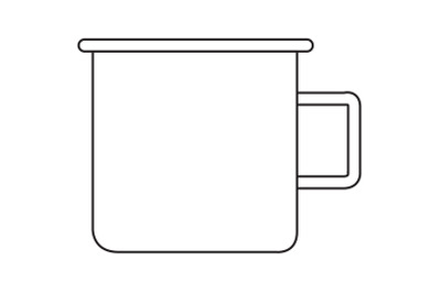 Camping Glass Outline Icon