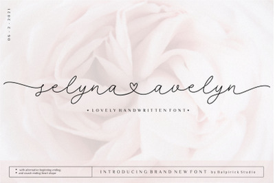 Selyna Avelyn Lovely Handwritten Font