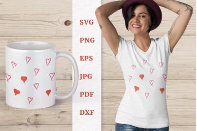 Valentines hearts SVG, Valentine Day SVG, Valentine's design