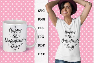 Happy Valentine's Day quote SVG.