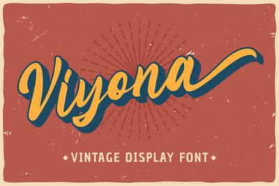 Viyona - Vintage Display Font
