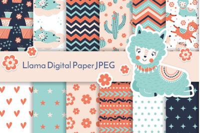 Llama digital paper JPEG 32