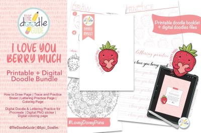 Printable and Digital Doodle Bundle
