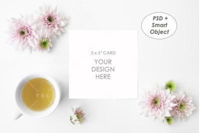 "5"" x 5"" Card Mockup"