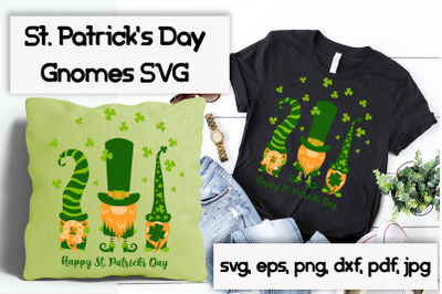 St. Patricks gnomes svg cutting files.