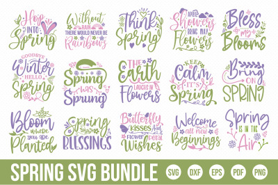 Spring SVG Bundle, Spring Quotes Bundle SVG