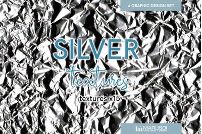 SILVER textures x15