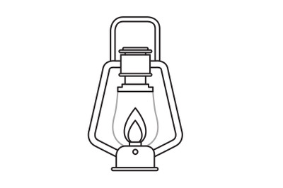 Camping Lantern Outline Icon