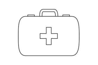 Camping First Aid Kit Outline Icon