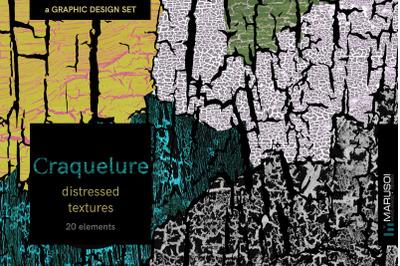 CRAQUELURE Distressed Textures x20