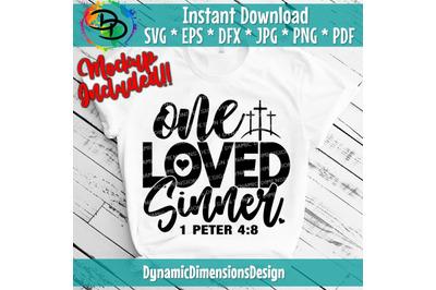 You are so Loved, Sinner, 1 Peter, John 3:16, Christian Svg, Cross, Je