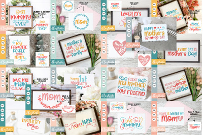 Mother's Day SVG Bundle   Mother's Day Quotes Bundle   Mum SVG   Mom
