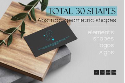 30 Abstract geometric shapes