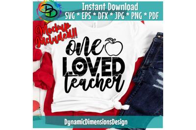 One Loved Teacher Svg, Teacher Valentine, Valentine's Day, Valentines