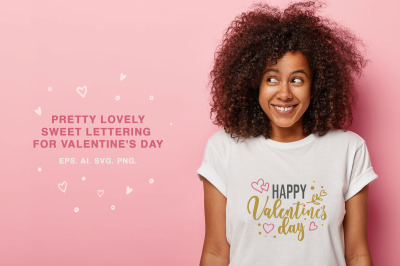 Sweet lettering for valentine's day